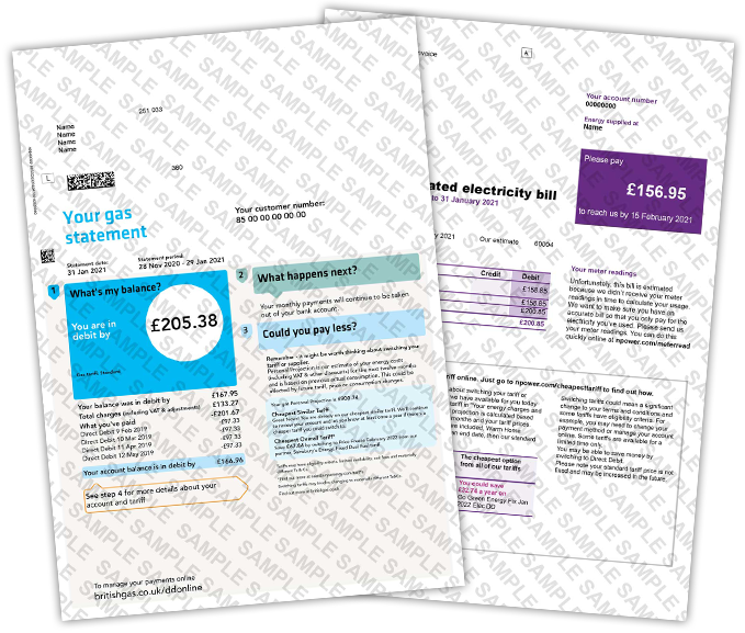 Quality Fake Utility Bills Replacement Utility Bill Templates