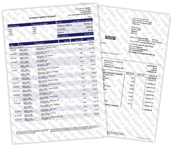 Fake Bank Statement & Novelty Bank Statement Templates