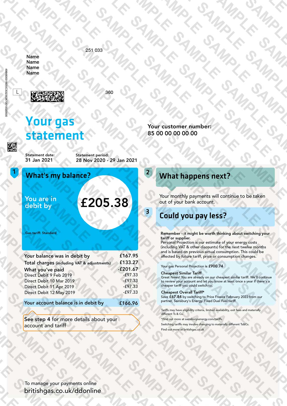British Gas Utility Bill