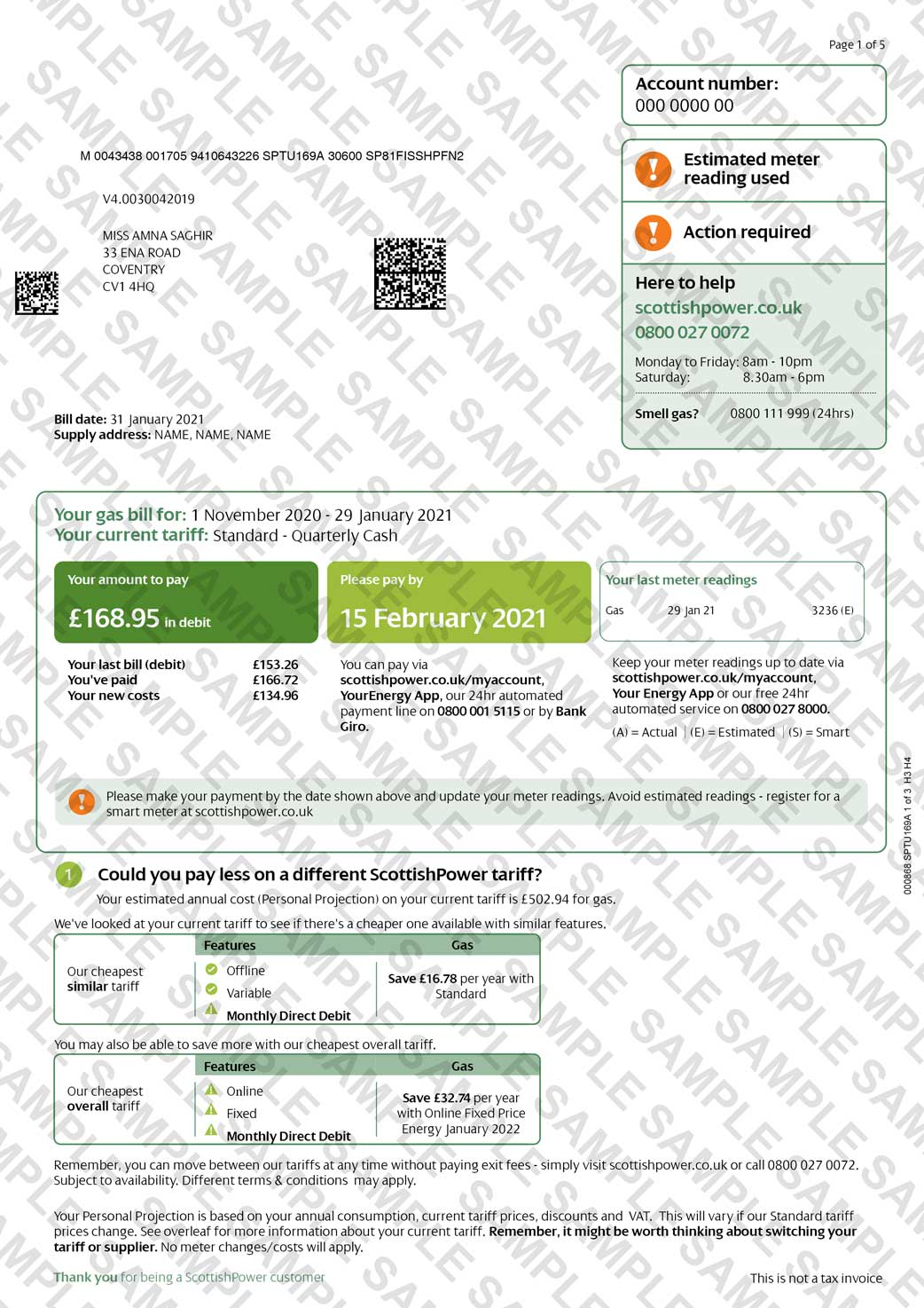 Scottish Power Utility Bill