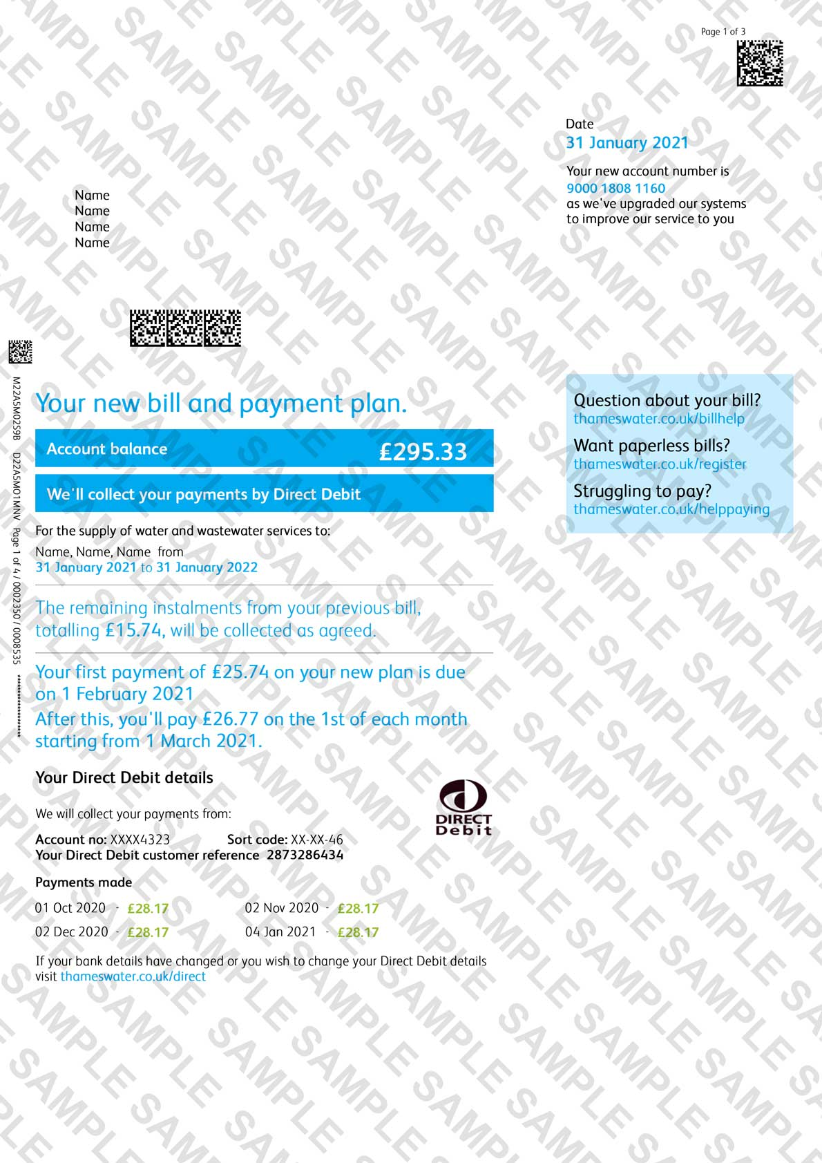 Thames Water Utility Bill